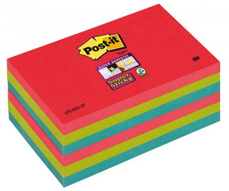 Post it color joya pop p/6 76*127mm 655-6ss-jp