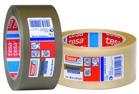 Cinta adhesiva de PVC rugoso Tesa 50mm x 66m marrón