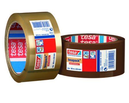 Cinta adhesiva Tesa Piolefina High Tack 50mm x 66m marrón