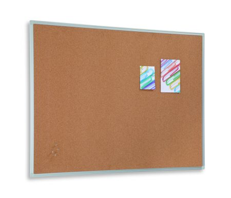 Tablero de corcho básico con marco de aluminio de 100 x 200 cm Planning Sisplamo