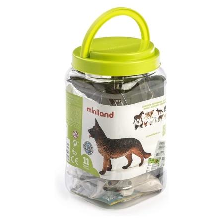 ANIMALES GRANJA 11 FIGURAS / BOTE CON ASA