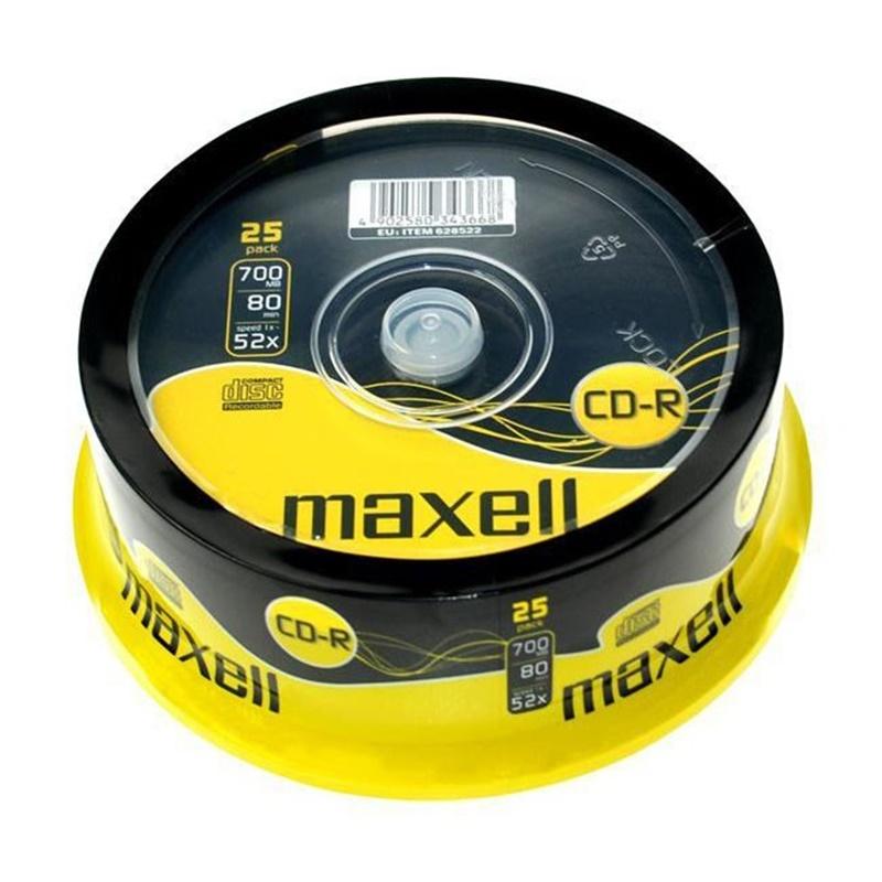 TARRINA 25 CD MAXELL  80M 700MB