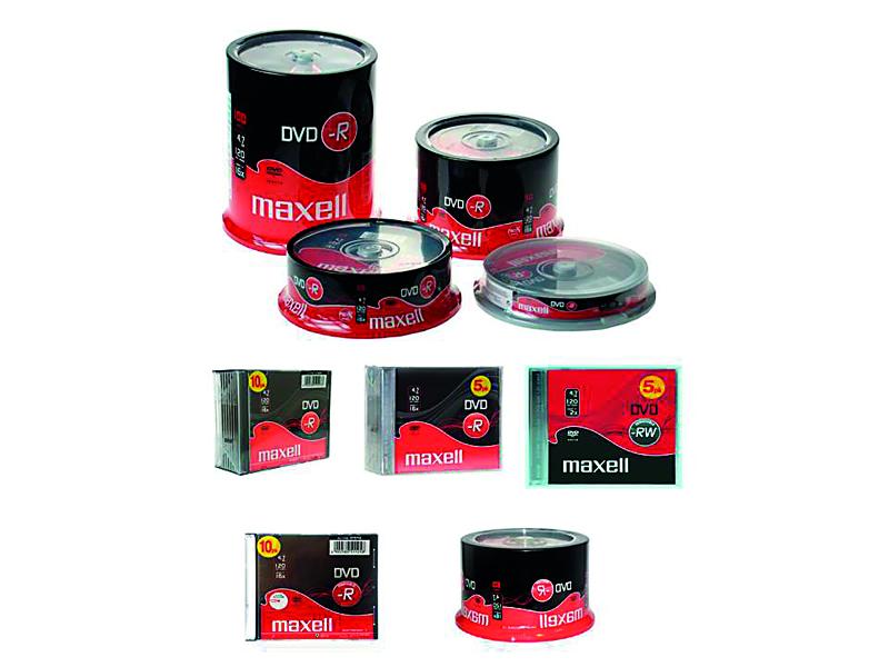 TARRINA 10 DVD-R MAXELL 4,7 GB 16X