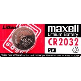 Blíster de 1 pila de botón CR2032 de 3V Maxell