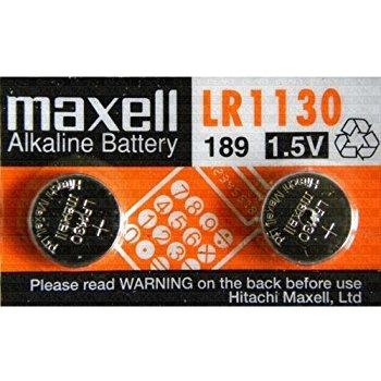 Blíster de 2 pilas de botón LR1130 de 1,5V Maxell