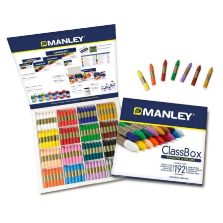 Estuche de 192 Ceras Manley school pack