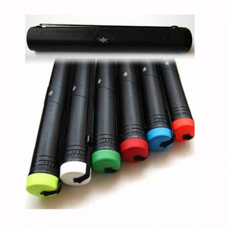 Tubo portaplanos negro extensible con cinta para colgar Ø 8 cm