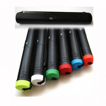 Tubo portaplanos negro extensible con cinta para colgar Ø 11 cm