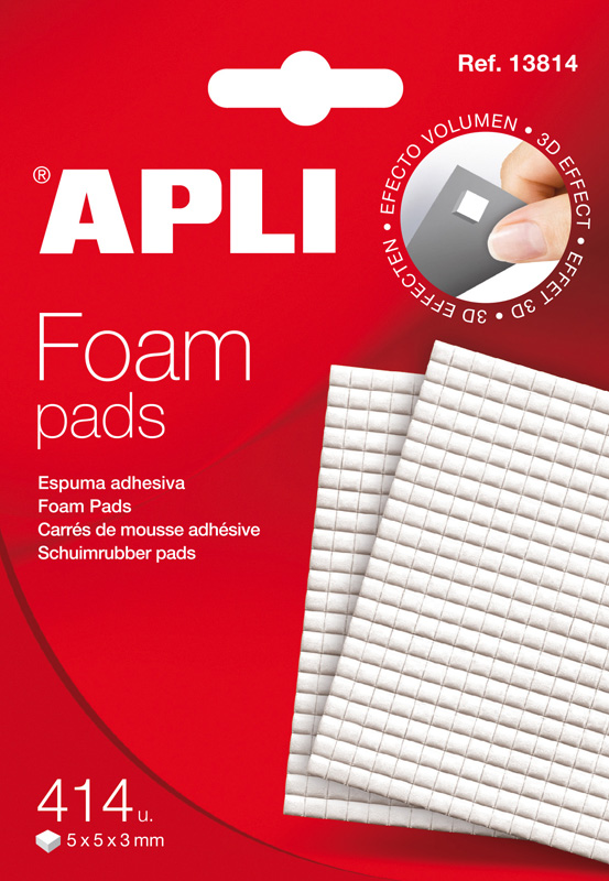 Apli foam pad 5x5x3 mm