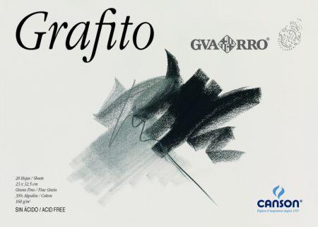 Block de 20 hojas de dibujo para grafito sin recuadro A4+ encolado de 160 grs/m² Canson