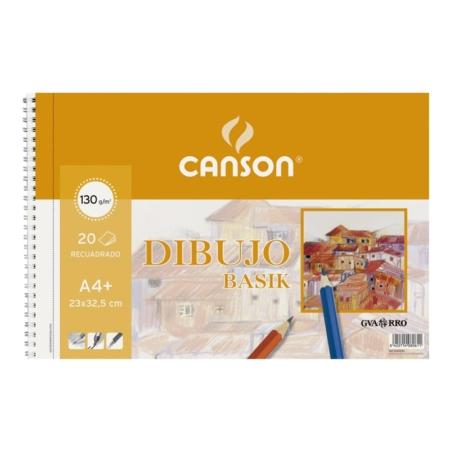 BLOCK DIBUJO CANSON BASIK A4+ 20H 130G CON RECUADRO