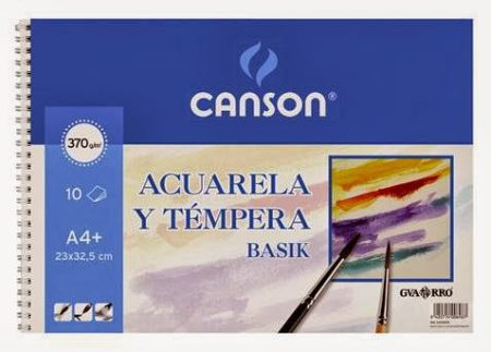 Block guarro acuarela basik a4+ 10h 23x32,5 370g