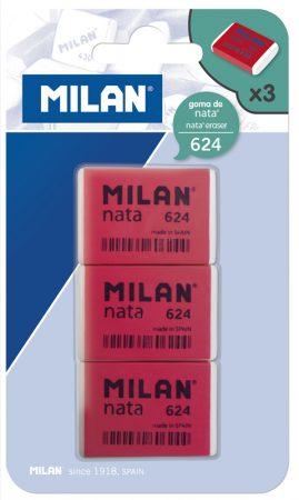 Blíster de 3 gomas de borrar Milan 624