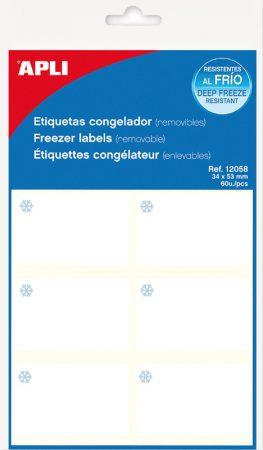 Bolsa de 10 hojas de etiquetas para congelador Apli 34 x 53 mm