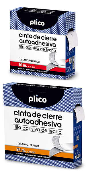 VELCRO ADHESIVO MACHO+HEMBRA 10M BLANCO