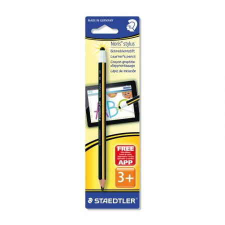 Blíster de 1 lapicero Noris 180® negro y amarillo con stylus Staedtler HB