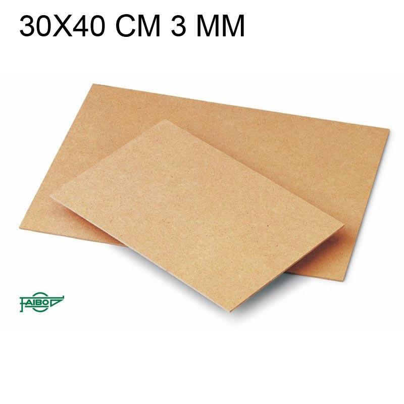 TABLERO DE FIBRA 30X40 CM 3MM DE ESPESOR