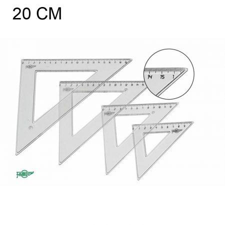 Escuadras con bolsa 20 cm