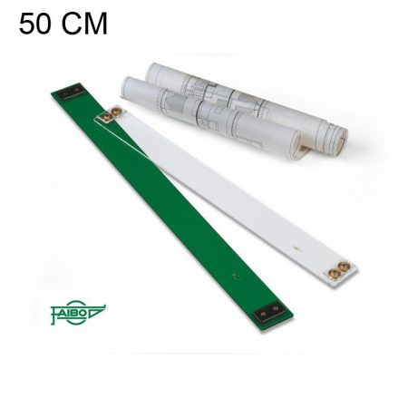 Paralex de metacrilato transparente sin graduar de 50 cm Faibo