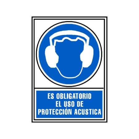 SEÑAL PVC AZUL 210x297 OBLIGAT.PROTECC ACUSTICA