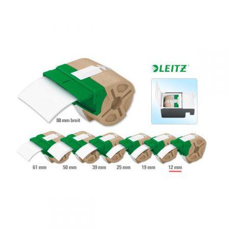 Cartucho de etiqueta continua blanca de papel de 12 mm x 22 m para Leitz Icon