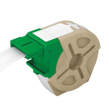 Cartucho de etiqueta continua blanca de plástico de 12 mm x 10 m para Leitz Icon