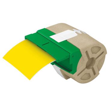 Cartucho de etiqueta continua amarilla de plástico de 88 mm x 10 m para Leitz Icon