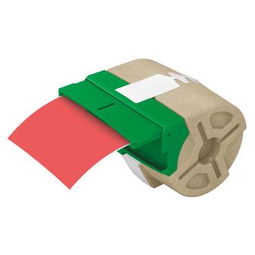 Cartucho de etiqueta continua roja de plástico de 88 mm x 10 m para Leitz Icon