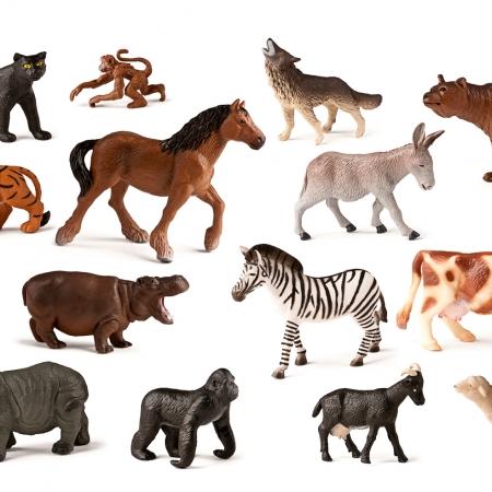 ANIMALES SALVAJES Y GRANJA B/30PCS.