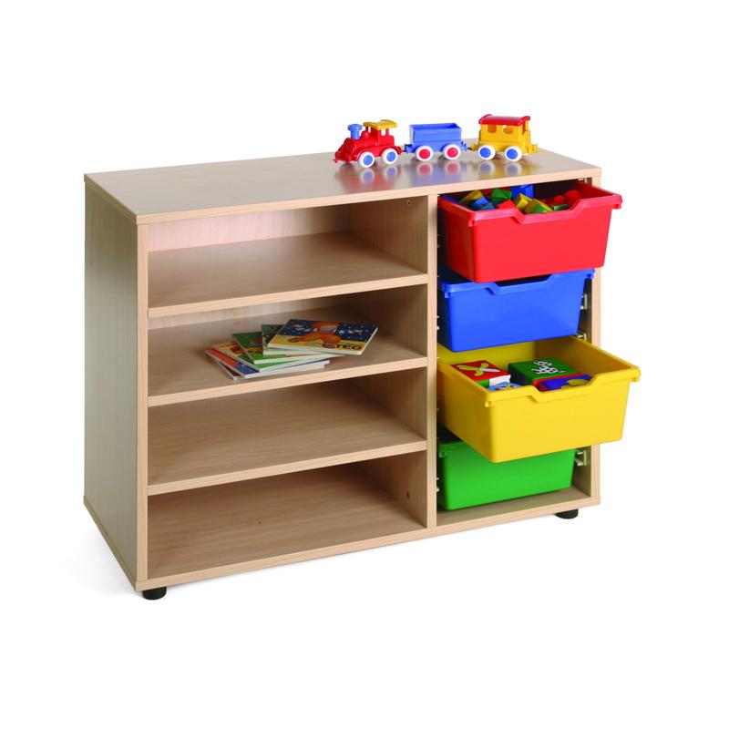 Mueble estantería-cubetero