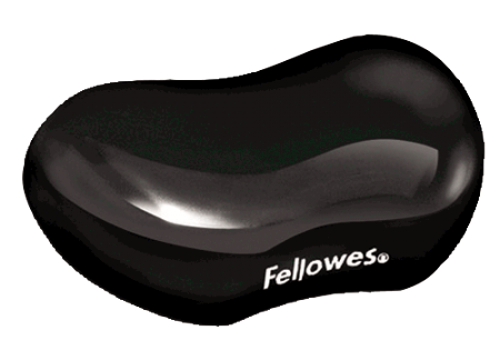 ALFOMBRILLA CON REPOSAMUÑECAS FLEXIBLE GEL NEGRO FELLOWES