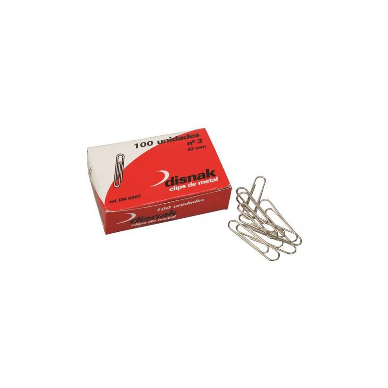 Caja 100 clips colores Disnak 33 MM Nº 2