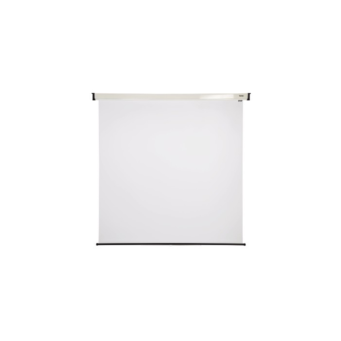 PANTALLA ENROLLABLE BLANCA PARA PARED Y TECHO 180X180