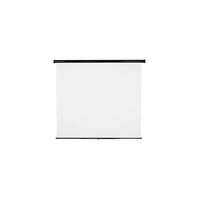 PANTALLA ENROLLABLE BLANCA PARA PARED Y TECHO 175x175
