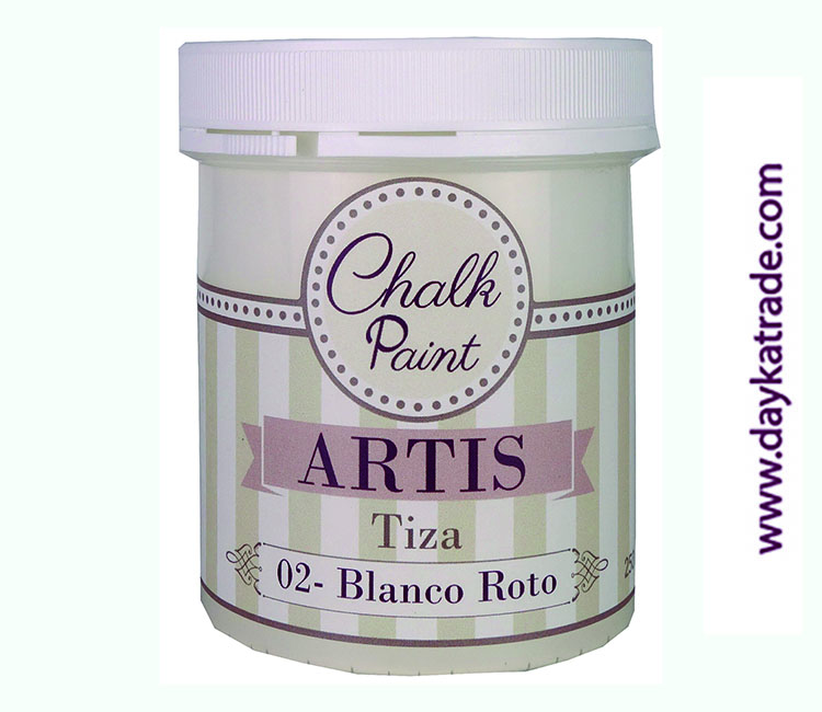 PINTURA TIZA CHALK PAINT ARTIS  250 ML BLANCO ROTO