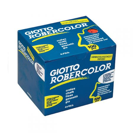 Caja de 100 tizas rojas para pizarra Giotto Robercolor
