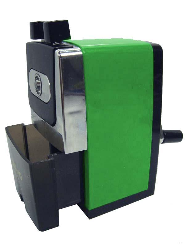 Afilalápices de sobremesa manual Disnak verde
