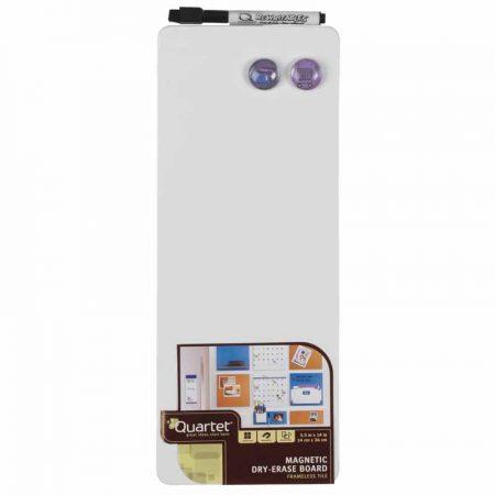 Pizarra blanca magnética de 14 x 36 cm con accesorios Rexel