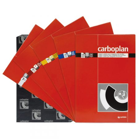 Paquete de 10 hojas de papel carbón carboplan negro