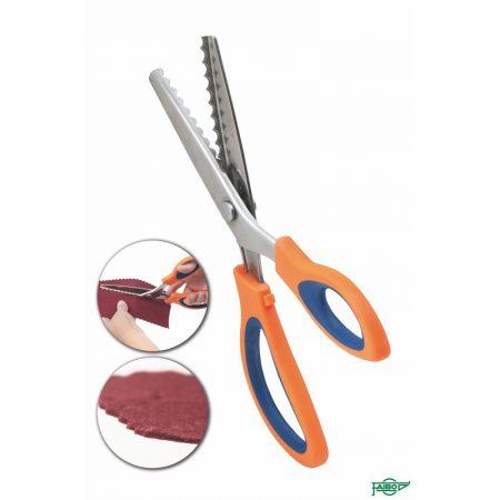 Blister de 5 tijeras dentadas 24 cm