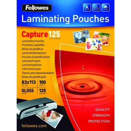 Paquete de 100 fundas de plastificar 83 x 113 mm de 125 μ Fellowes