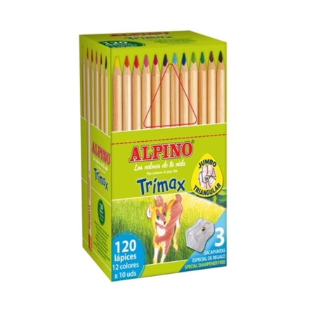 Economy pack 120 Lápices Colores Alpino Trimax
