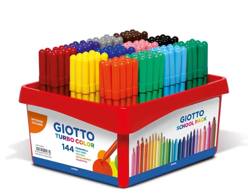 Schoolpack de 144 rotuladores Giotto Turbo Color