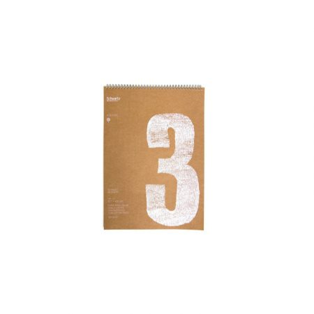 Block kraft reciclado de 50 hojas de dibujo sin recuadro A3 con espiral de 120 grs/m² Schwartz