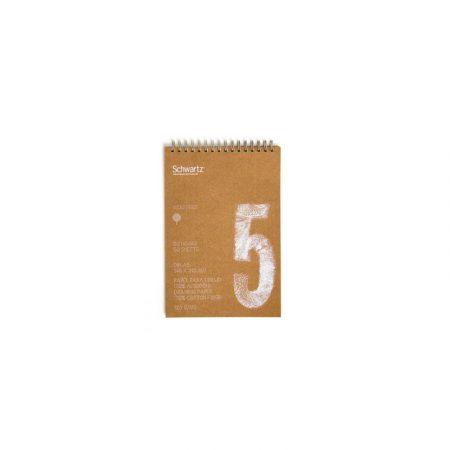 Block kraft reciclado de 50 hojas de dibujo sin recuadro A5 con espiral de 120 grs/m² Schwartz