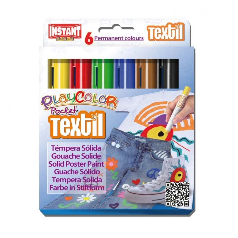 PLAYCOLOR TEXTIL DE 6 COLORES