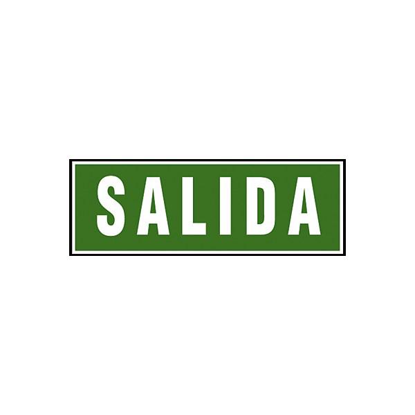 PACK 2 SEÑAL PVC VERDE SALIDA 105x297