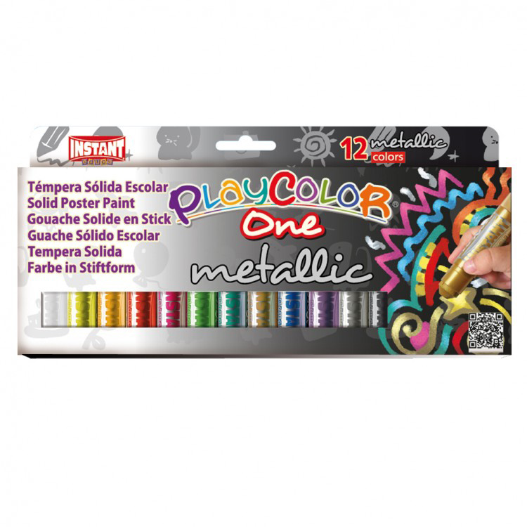 TEMPERA SOLIDA PLAYCOLOR 12 COL. METAL 10 GR