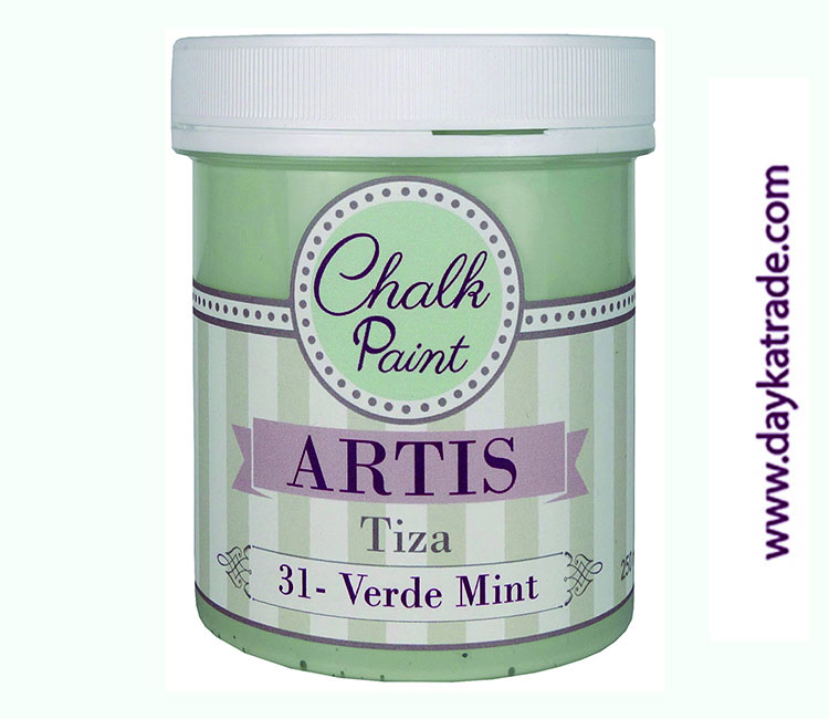 PINTURA TIZA CHALK PAINT ARTIS  250 ML VERDE MINT