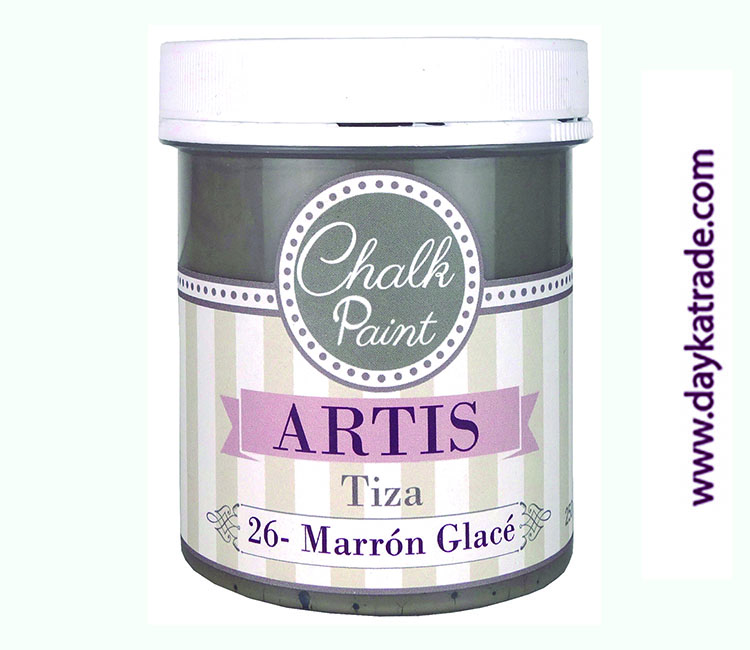 PINTURA TIZA CHALK PAINT ARTIS  250 ML MARRON GLACE